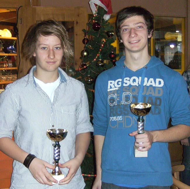 Vereinsmeister 2011 Carina und Fabian