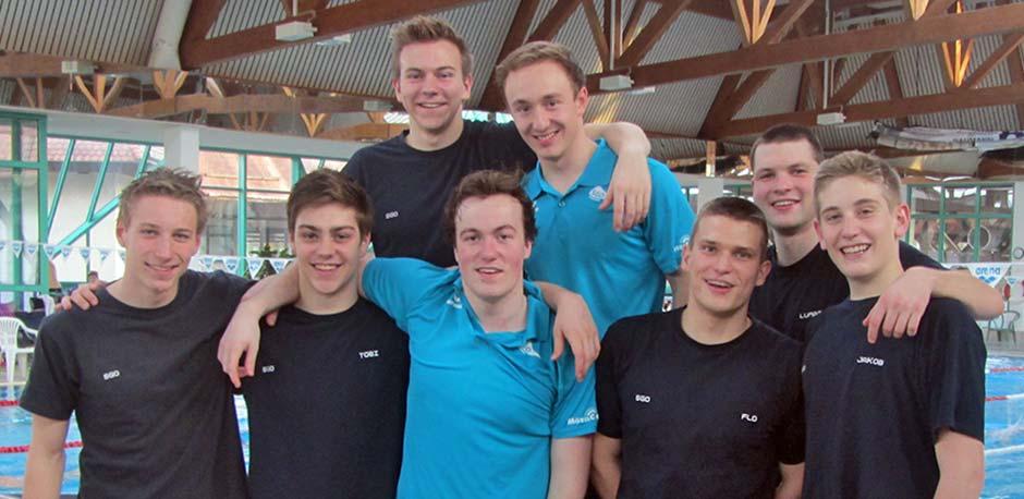 Die erfolgreiche Männermannschaft bei der DMS Landesliga im Februar 2016