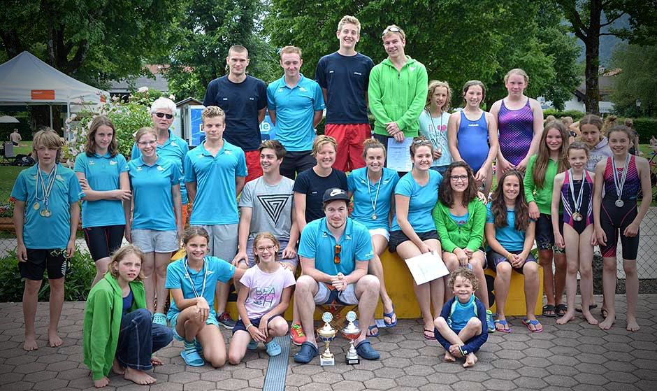 Die Mannschaft der SGO bei den Kreismeisterschaften in Rottach-Egern