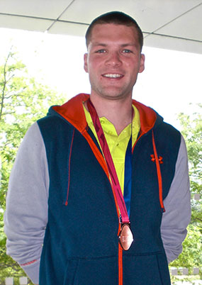 Philipp mit einer seiner 2 Europameisterschaftsmedaillen