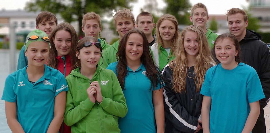 Die Teilnehmer der SGO am Internationalen Langstreckenschwimmen in Rosenheim